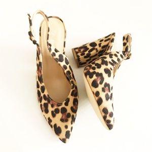 NEW Nasty Gal Leopard Print Brook Block Heels